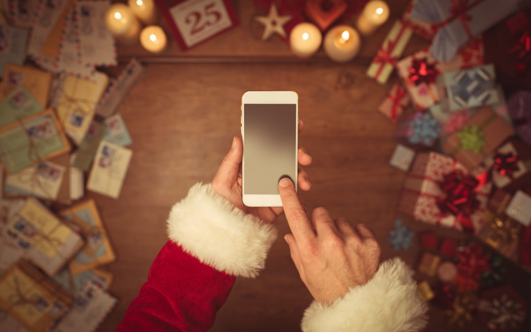 Santa Swiping on phone