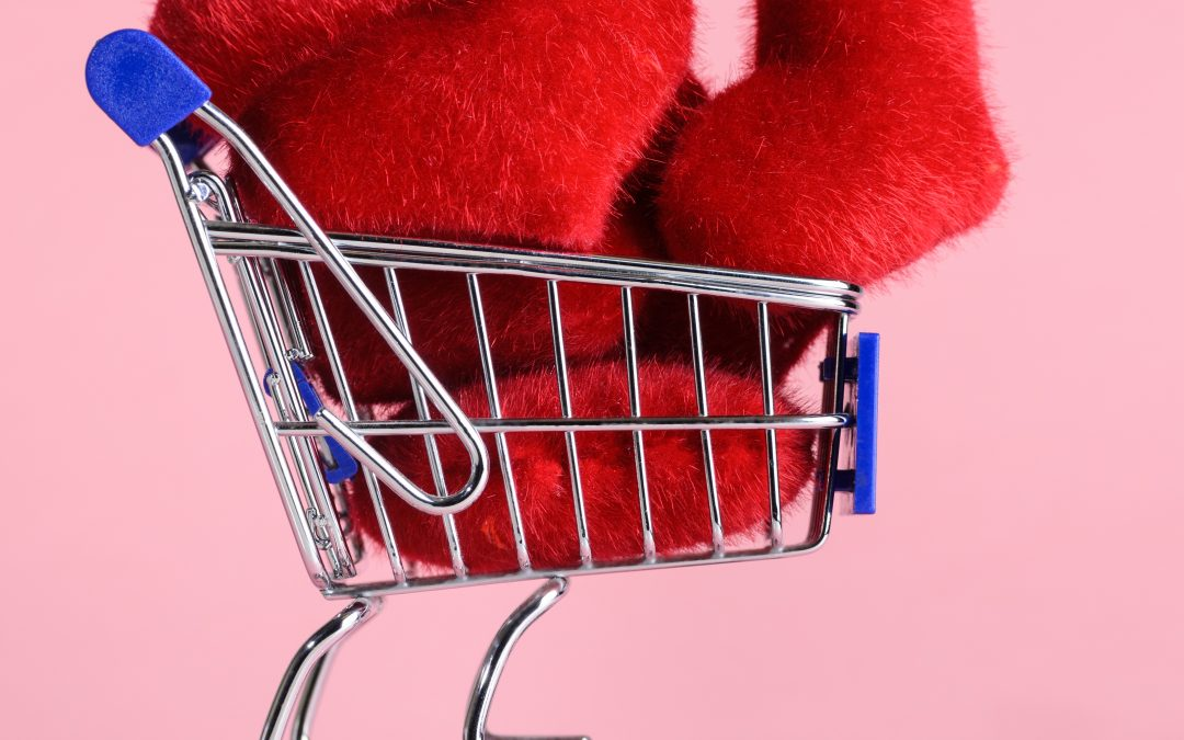 shopping cart - pink
