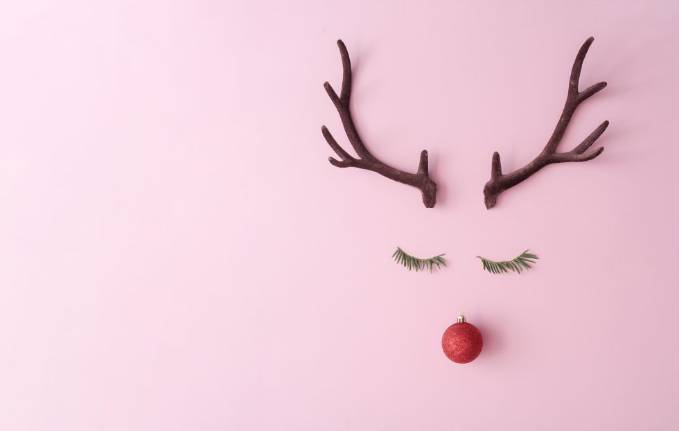 Cute Reindeer - pink background