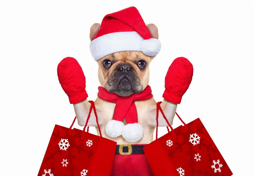 Cute Santa dog Gift Bags