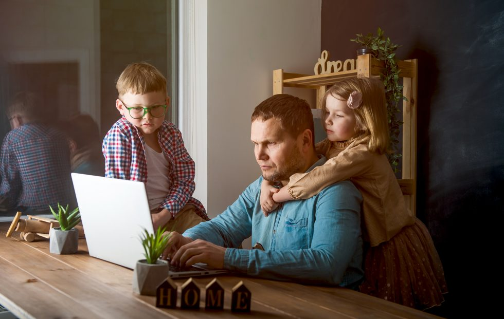 Parent Working from Home with Children