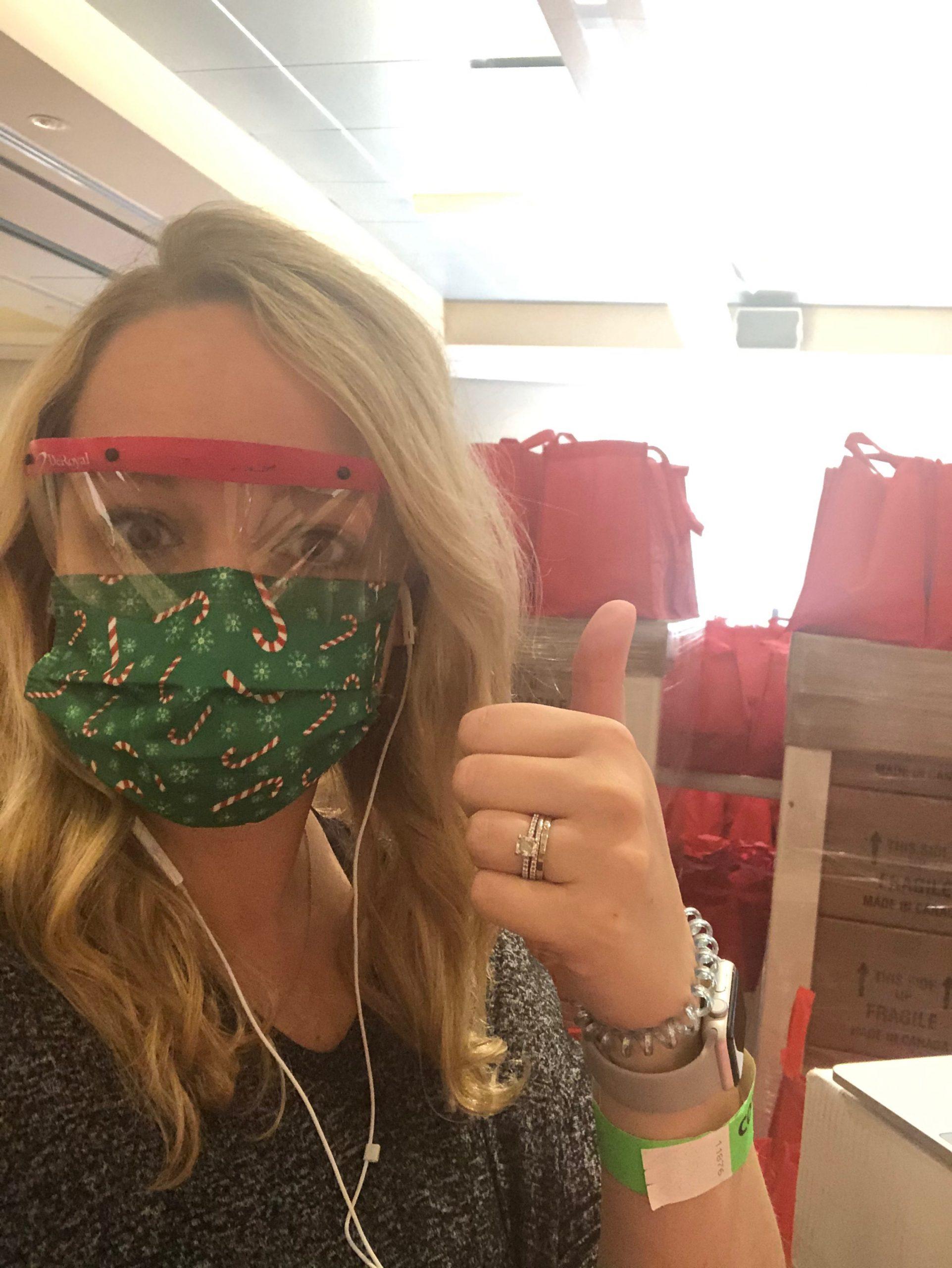 Katie Broussard Cookies & Castles Event in Mask