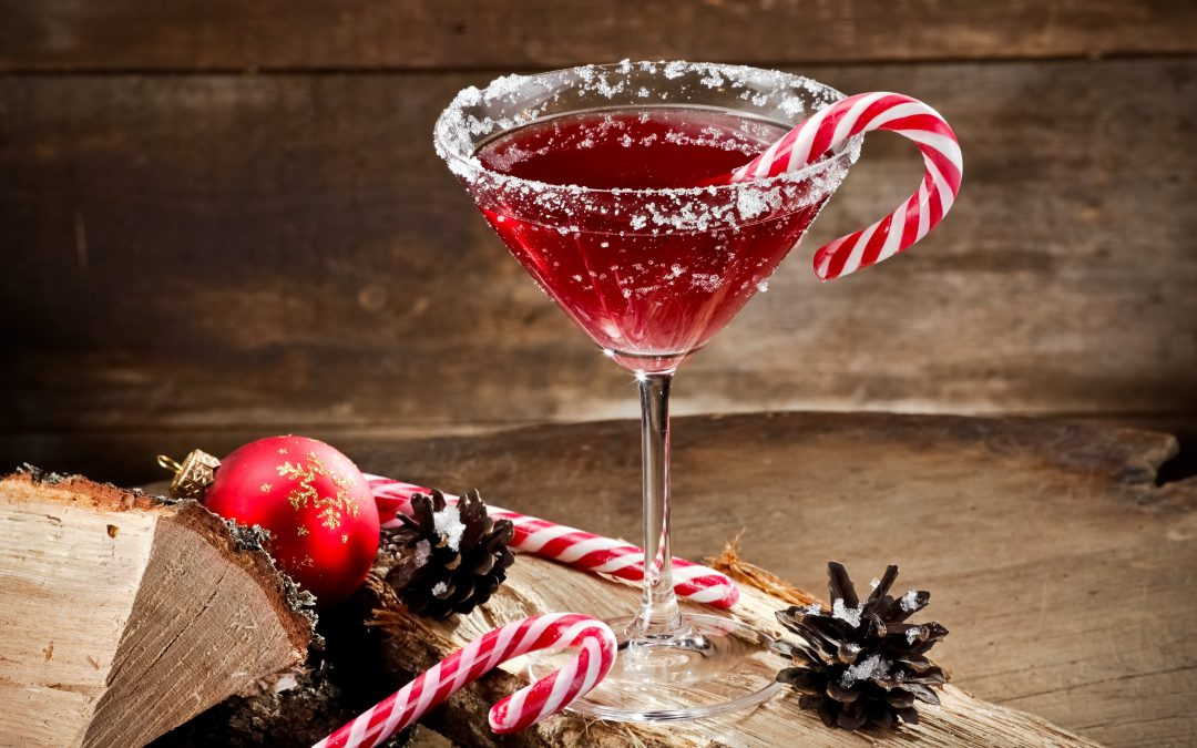 christmas cocktails holiday cocktail red martini with candy cane
