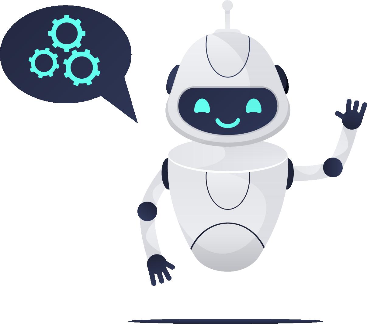 Cute robot dude - no background